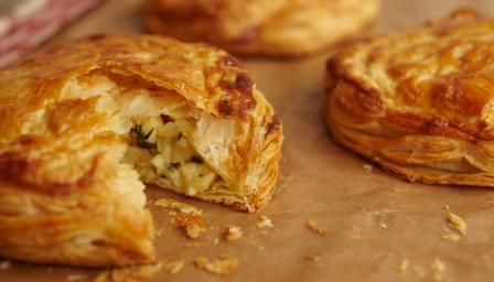 Leek and Caerphilly puffs