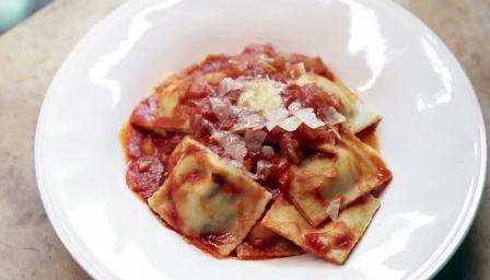 Pork and parmesan ravioli