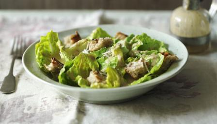Low-fat Caesar salad
