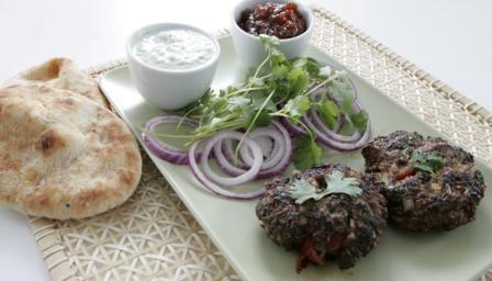 Minced beef chappli kebabs