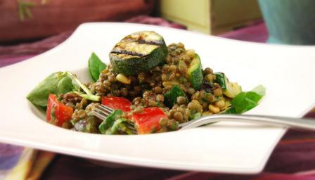 Moroccan Puy lentil salad