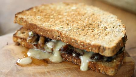 ... - rich, tangy taleggio melted with mushrooms on toasted sourdough