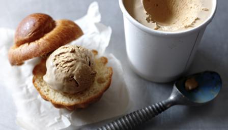 One-step no-churn coffee ice cream