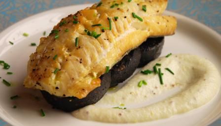 Oven-roasted smoked haddock