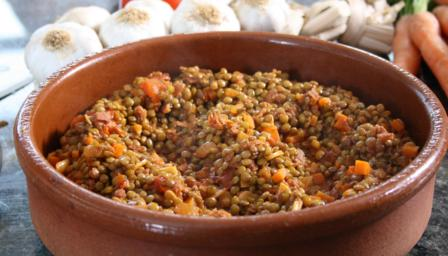 Spanish Lentils Recipe — Dishmaps
