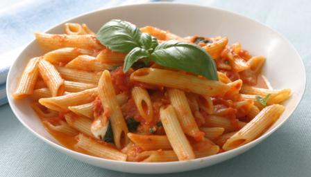 Tomato And Basil Sauce With Pasta Recipe — Dishmaps