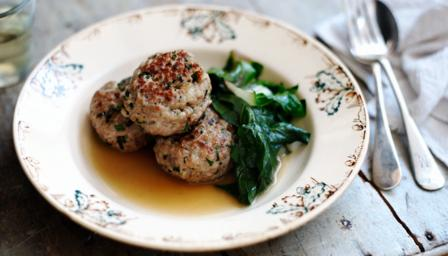 Pork meatballs with anchovies