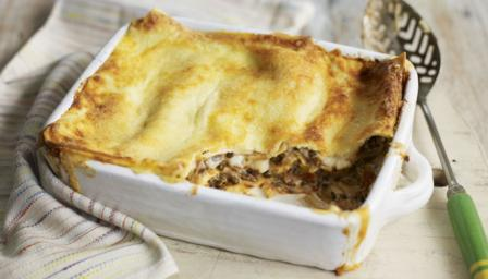 Vegetarian puy lentil lasagne
