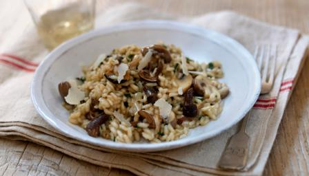 Really easy mushroom risotto