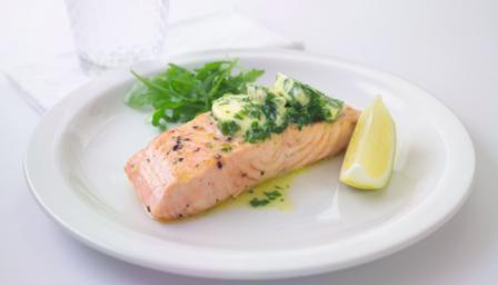 Salmon with green butter
