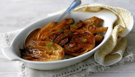 Sauted caramelised fennel