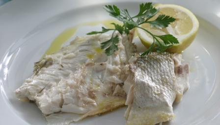 Sea bass roasted with rosemary and lemon