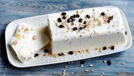Semifreddo al torroncino (homemade nougat ice cream)