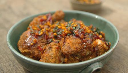 ... Food - Recipes - Southern-fried buttermilk chicken with tomato salsa