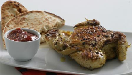 How to make spatchcocked poussin with chilli jam
