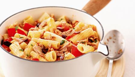 Spice up your pasta with a little chilli, adding tuna also makes this ...