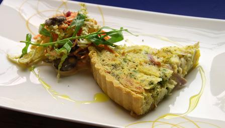 Sprout and potato quiche