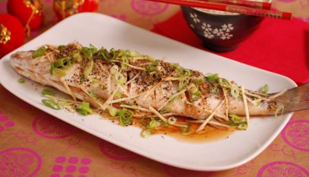 Steamed Cantonese-style fish