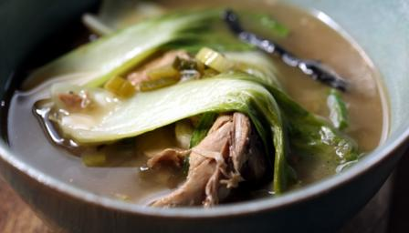 Sweet and sour duck broth
