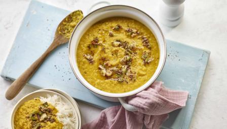 Tarka dal with rice