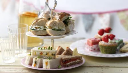Bbc Food Menus Springtime Afternoon Tea