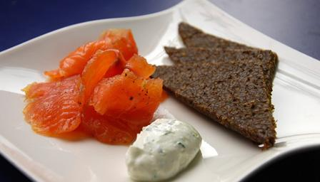 Tequila-cured salmon