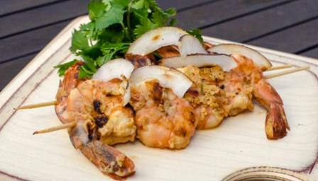 Thai coconut-chilli prawns