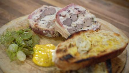 Venison, chicken liver and Armagnac terrine