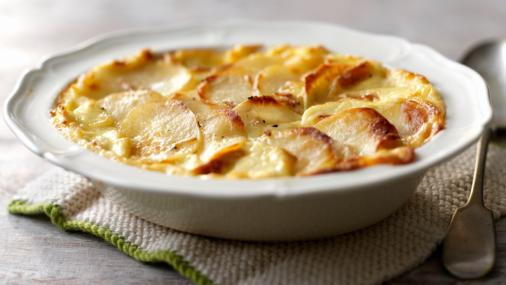Color photo with potatoes cheese recipe