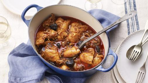 ... World: Kozani chicken with prunes, saffron and paprika - Greek chicken