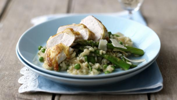 Bbc food recipes chicken and pea risotto for How do i make chicken risotto