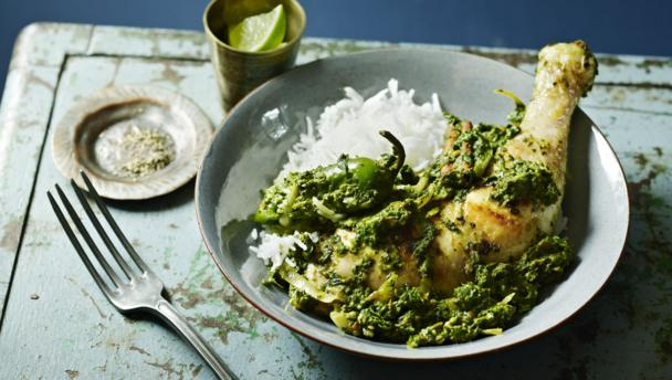 BBC Food - Recipes - Chicken with spinach