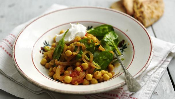 BBC Food - Recipes - Chickpea stew with tomatoes and green chilli