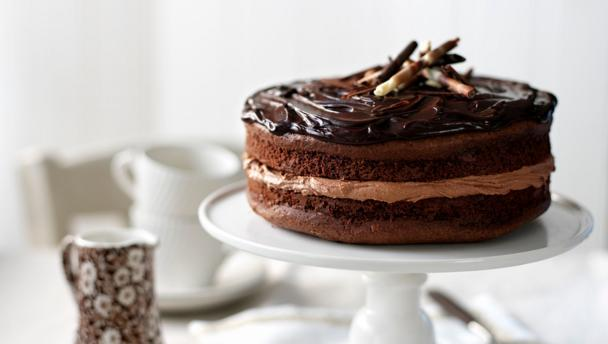 bbc food recipes chocolate fudge cake. Black Bedroom Furniture Sets. Home Design Ideas