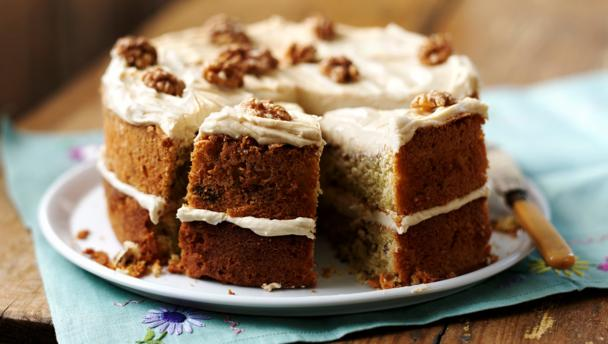 Coffee and walnut cake