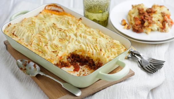 Comforting cottage pie