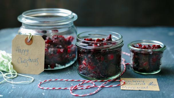 Cranberry-studded mincemeat