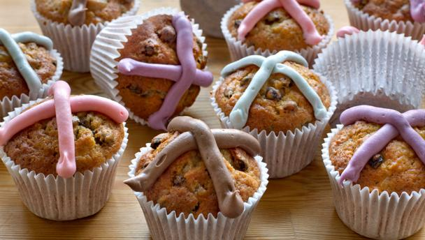 Easter fruit cupcakes