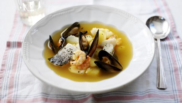 Bbc food fish soup recipes for Fish broth recipe