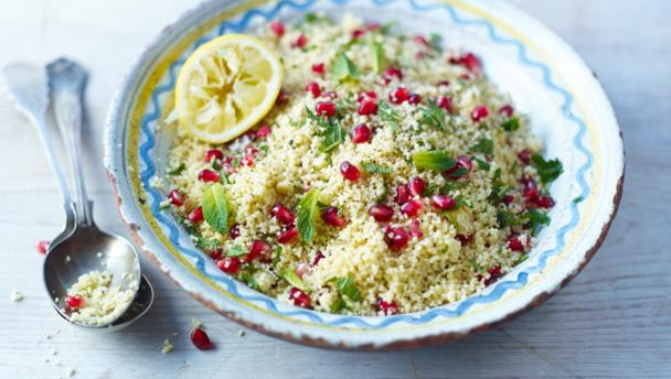 Lemon and pomegranate couscous