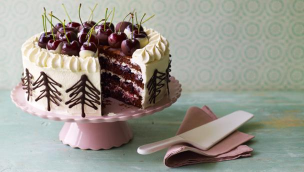 BBC Food - Recipes - Mary's Black Forest gâteau