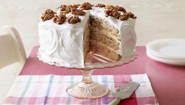 mary s frosted walnut layer cake by mary berry