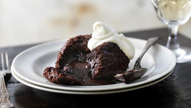 Gooey chocolate fondant puddings