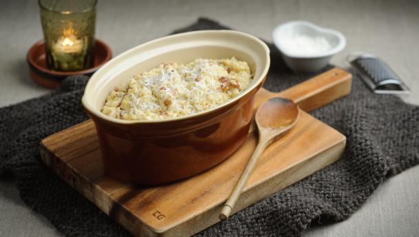 BBC Food - Recipes - Oven-baked risotto carbonara