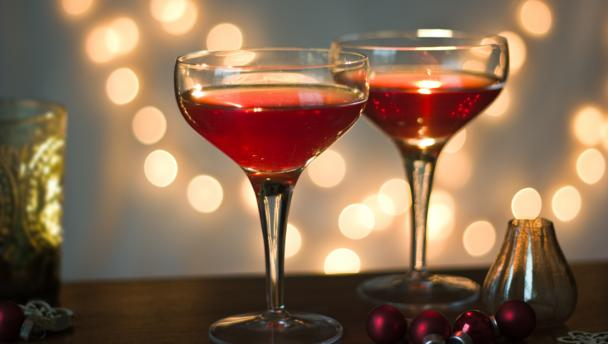 Pomegranate Christmas cocktail