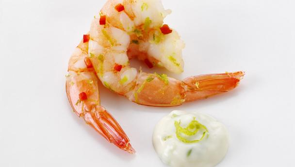 Bbc food recipes japanese style chilli prawn canap s for Easy cold canape ideas