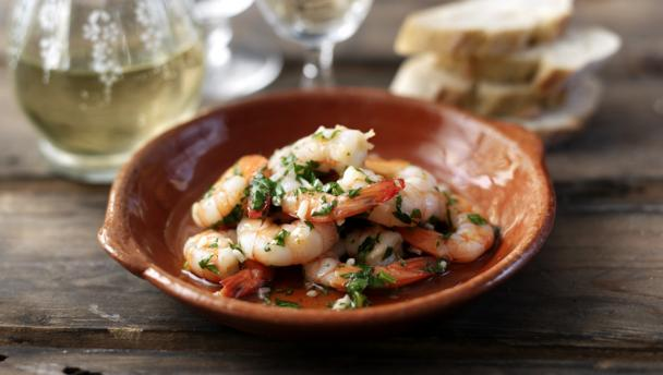 how to serve cooked king prawns
