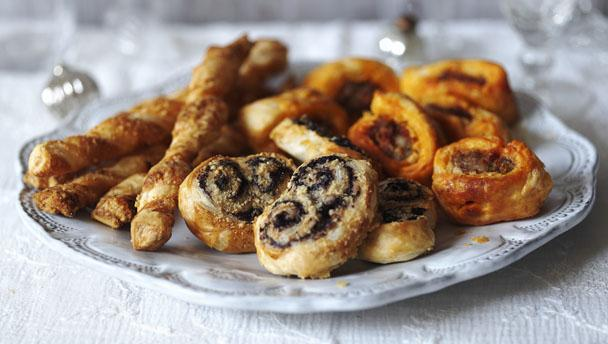 Bbc food recipes puff pastry party canap s for Puff pastry canape ideas
