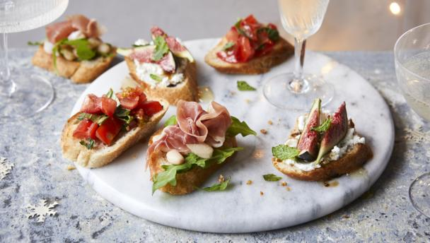 Bbc food crostini recipes for Canape receipes