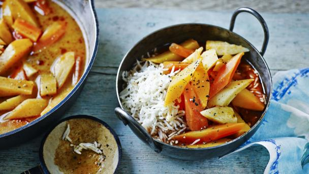 Root vegetable Thai curry